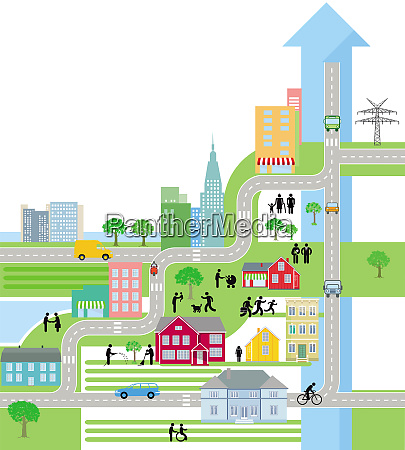 city city map life in the