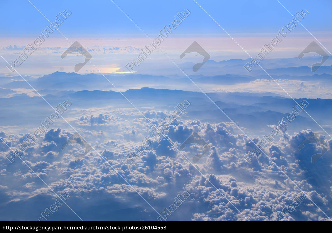 flight, above, clouds., wonderful, panorama, from - 26104558