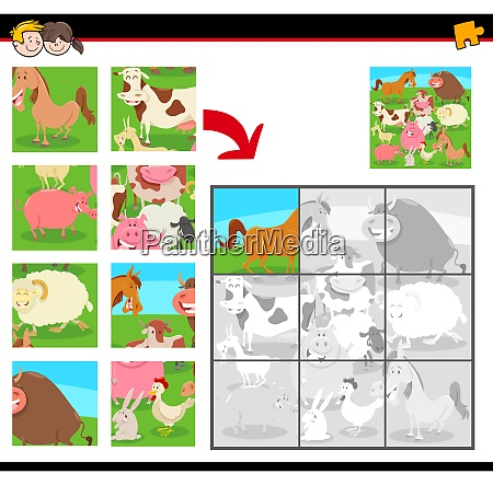 jigsaw puzzles with farm animals