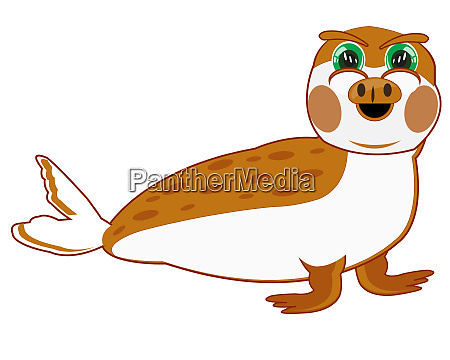 cartoon seal on white background is