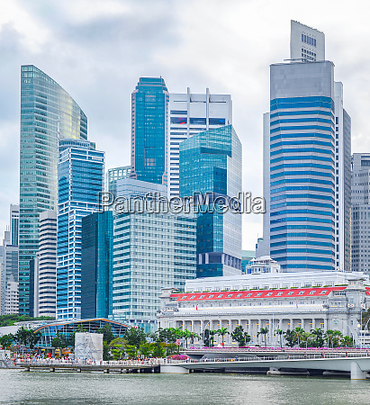 singapore downtown core with embankment