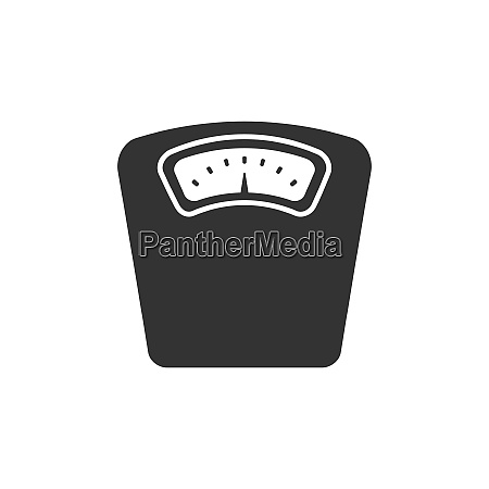bathroom scale icon on a white