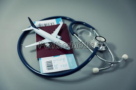 travel insurance passport with flight