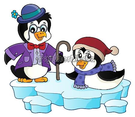happy stylized penguins topic image 1
