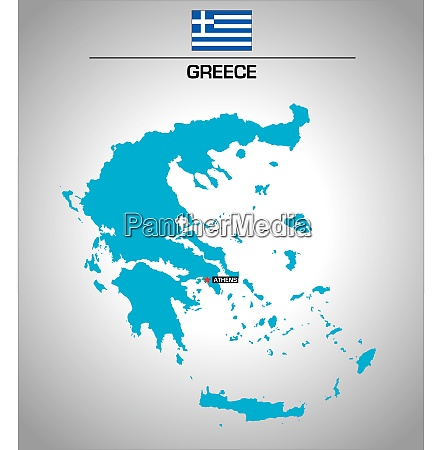 simple vector outline map of greece