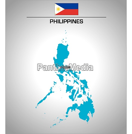 simple vector outline map of philippines