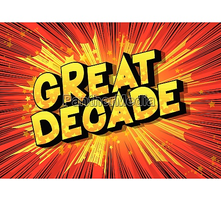 great decade vector illustrated comic