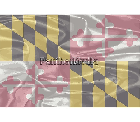 maryland state seidenflagge