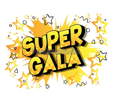 super gala comic buch stil