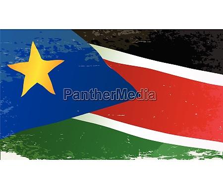 suedsudan grunge flagge