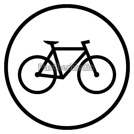 fahrrad ikone im schwarzen kreis