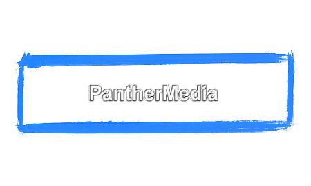 bemalter blauer pinselrahmen