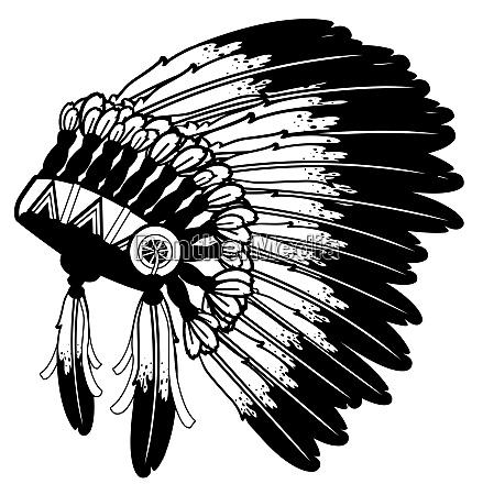 war bonnet american indian native traditional