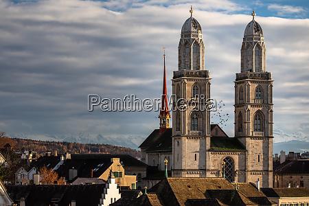 zurich switzerland view of the