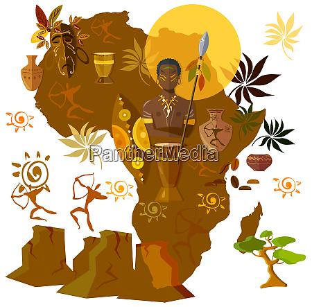 afrika kultur stamm afro maske alte