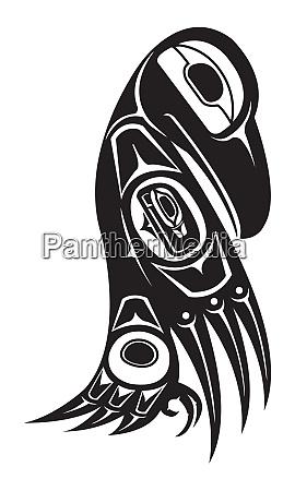 native raven american totem indigenous wild
