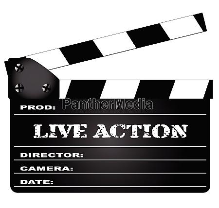 live action clapperboard