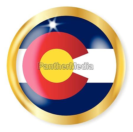 colorado flagge button