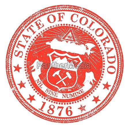 colorado state rubber stamp