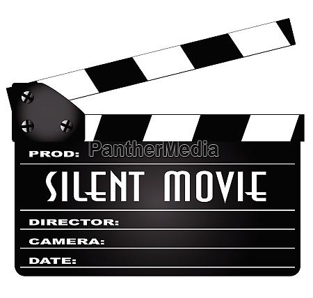 silent movie clapperboard