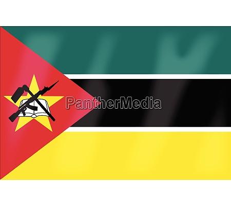 mosambik flagge