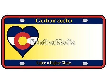 colorado state kennzeichen