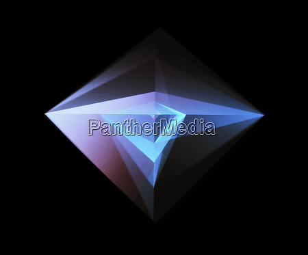 abstract glowing geometric shape on black
