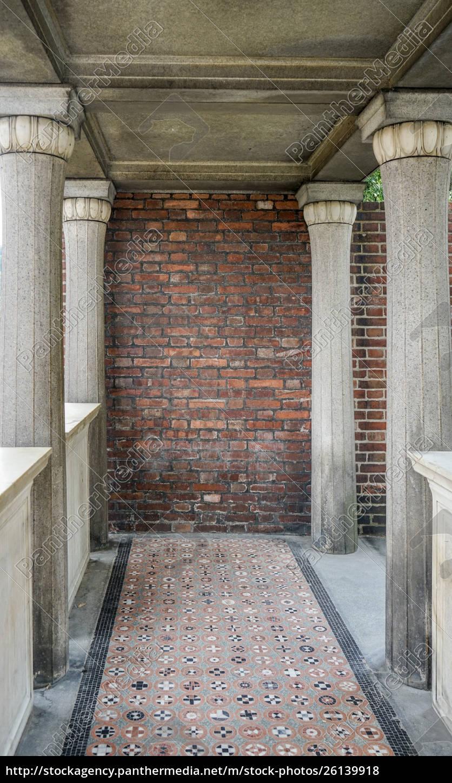 säulen, und, mosaikboden - 26139918