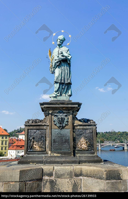 skulptur, des, hl., johannes, von, nepomuk - 26139933