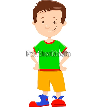 cute little boy cartoon illustration