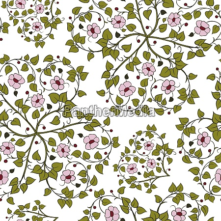 seamless pattern with intertwining branches of