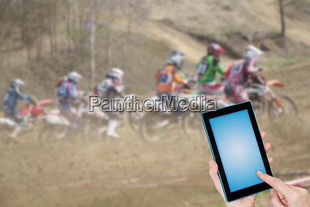 motocross renninfografik konzept