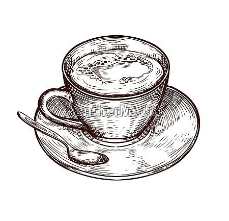 cup isoliert auf weissem hintergrund teetasse