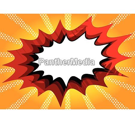 comic buchhintergrund mit grosser blanker explosionsblase