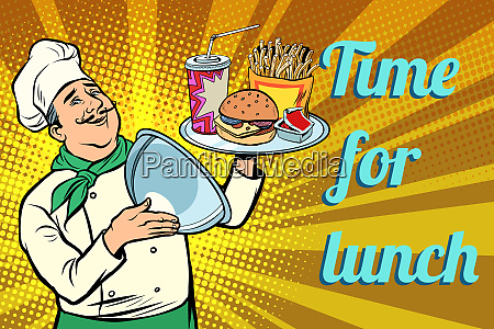 time for lunch fast food chef