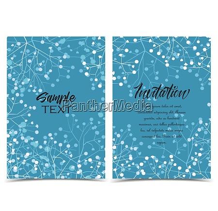 vector floral invitations