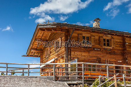 alpine huts on the alpe di