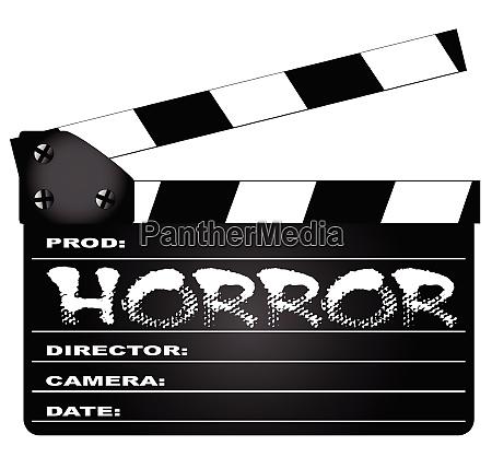 horror klapperboard