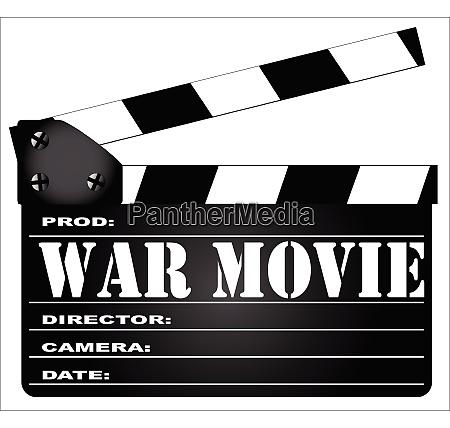 war movie clapperboard
