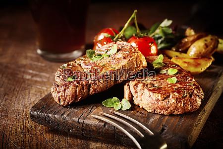 thick tender roasted or grilled fillet