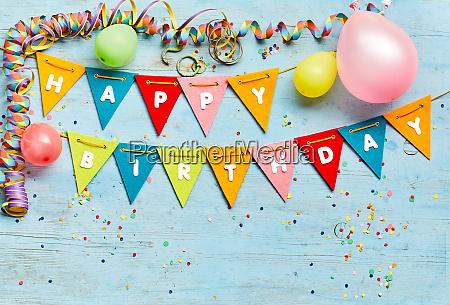 happy birthday bunting background