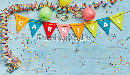 carnival background with festive bunting