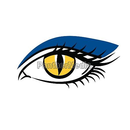 eye on white background eyes art