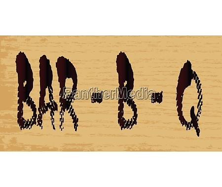 bar b q sign