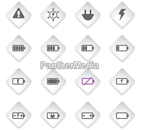 batterie energie vektorsymbole