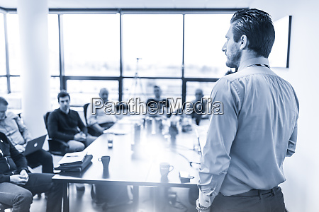 business presentation on business meeting in