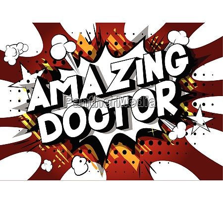 amazing doctor comic book style