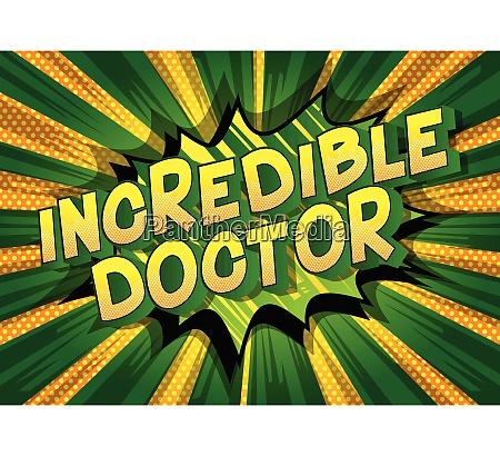 incredible doctor comic book style