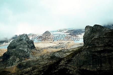 marmolada gletscher bei tageslicht