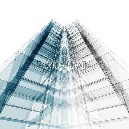 building construction design 3d rendering